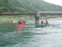 沈下橋とカヌー